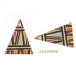 breloque sequin x4 peinture émail motif ethnique 25x18mm