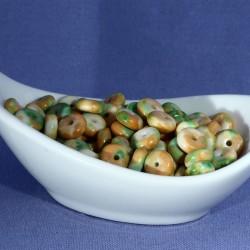 perle jade boulier x20 rondelle orange vert 8x4mm