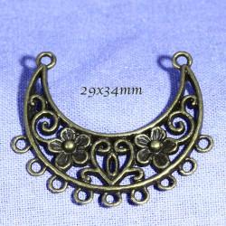 chandeliers connecteurs x4 bronze 29x34mm