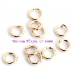 anneaux de jonction plaque or x20 diametre 5mm