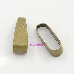 50 attaches béliere clip laiton bronze 10x3mm