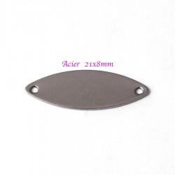 connecteur x10 marquise acier inoxydable 21x8 mm