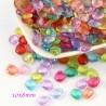 Mix 30 breloques goutte transparentes facettées acrylique 10x8mm
