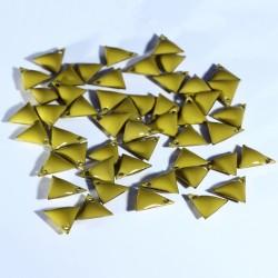 Sequin médaillon triangle x6 émail pastèque  8mm