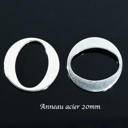 6 anneaux connecteur acier 316L ovale 20mm