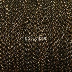 1 mètre  CHS066 de chaine  bronze maillon rond 1,5x1,5mm