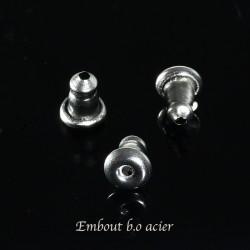 30 Embouts poussoir acier inoxydable 5,5mm