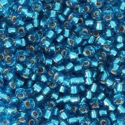 10 grs Perles verre rocailles Miyuki silver lined Capri Blue  2mm