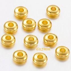 30 perles abaque laiton entretoise doré 5x2mm