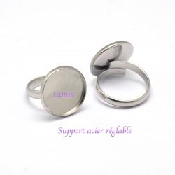 1 Pcs support bague acier ronde réglable 14mm