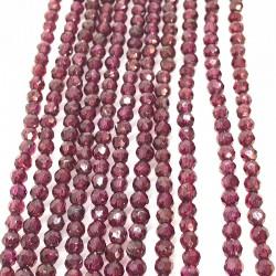 20 perles de grenat Rhodolite facette 4mm grade AA