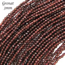 20 perles grenat rhodolite facettes naturelles  3mm