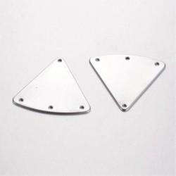 2 connecteurs triangle acier inoxydable lisse plat 30x27mm