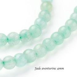 20 perles jade aventurine naturelle non teintées 4mm
