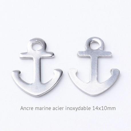 10 ancres marine acier inoxydable 14x10mm