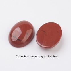 2 cabochons pierre minérale jaspe rouge ovale 18x13mm