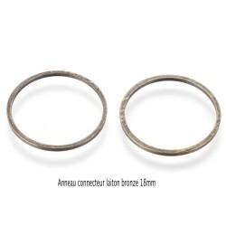 20 anneaux connecteur rond laiton bronze 18mm