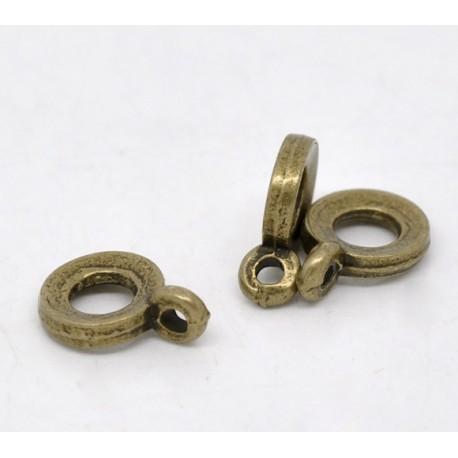 10 bélières bronze ronde 11x8mm