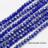 50 perles verre abbaccus bleu nuit prisme 4x3mm