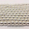 10 Perles rondes hématite grade AAA plaqué argent 8mm