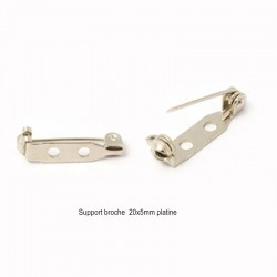 20 supports broche rectangle  platine à  vis 20x5mm