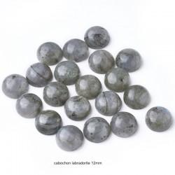 2 Cabochons gemmes labradorite 12mm