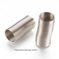 65 tours fil mémoire bague acier au carbone 20x0,6mm