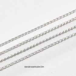 1M chaine laiton serpentine platine 0,8mm