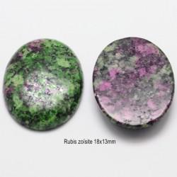 1 cabochon pierre gemme rubis zoisite véritable 18x13mm