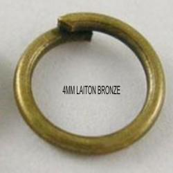 100 anneaux de jonction laiton bronze 4mm