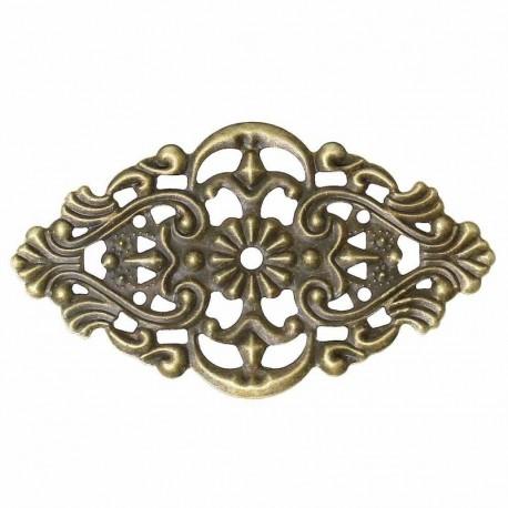 8 estampes ovale art nouveau arabesque  filigrane bronze 55x32mm